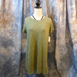 Comfy Cotton dress for Summer! distressed Khaki 3X